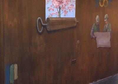 roestige-wandschildering