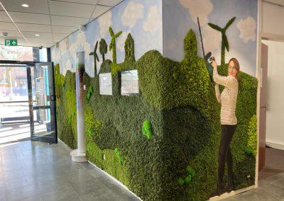 muurschildering-circulair-groen-mos